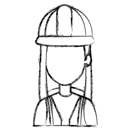 Construction woman avatar. Illusztráció