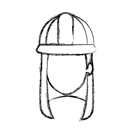 Construction woman avatar. Çizim