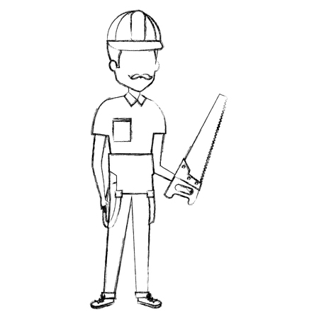 Repairman with handsaw avatar.