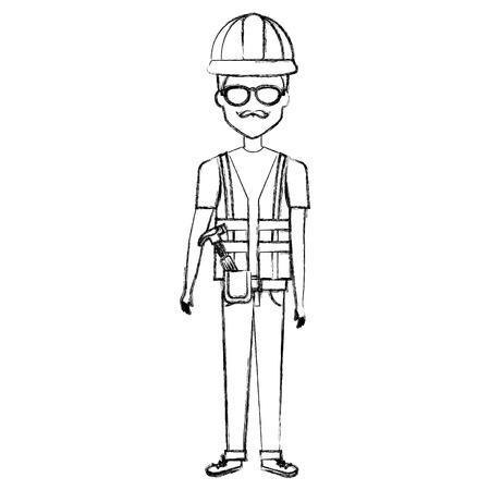 Reparador con anteojos avatar. Foto de archivo - 85024812