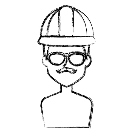 Repairman with eye glasses avatar.