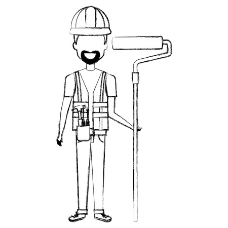 Repairman with beard avatar.