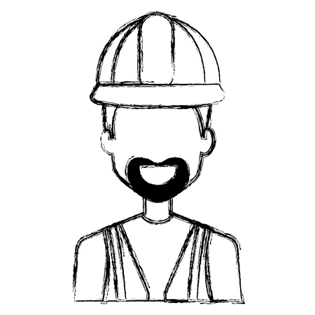 repairman builder avatar character vector illustration design