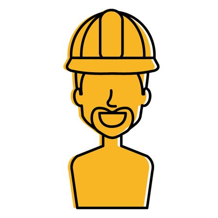 Repairman avatar illustration.