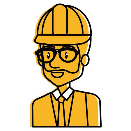 Engineer avatar illustration.