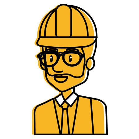 Engineer avatar illustration.