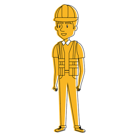 Repairman avatar illustration.