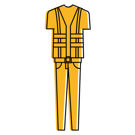 Construction uniform icon. Çizim
