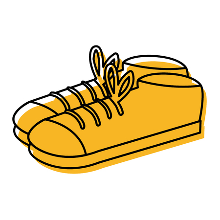 Elegant male shoes icon.