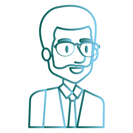 Male entrepreneur avatar illustration. Illustration