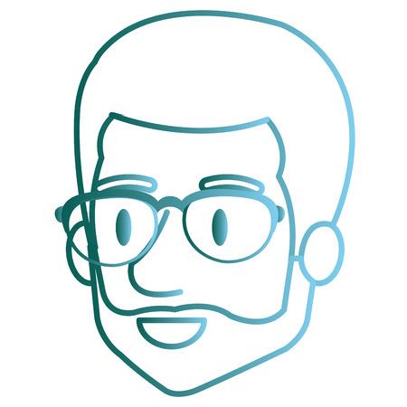 Man with eye glasses avatar. Stock Vector - 85025160