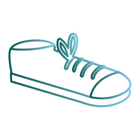 Elegant male shoe icon. Illustration