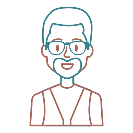 Man with eye glasses avatar. Stock Vector - 85025190