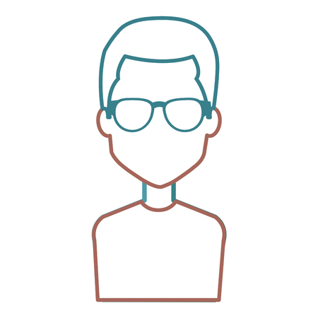 Man with eye glasses avatar.