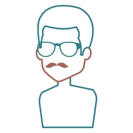 Man with eye glasses avatar. Stock Vector - 85025196