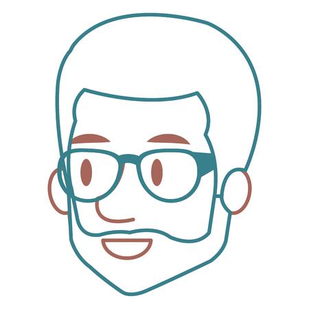 Man with eye glasses avatar. Stock Vector - 85025202