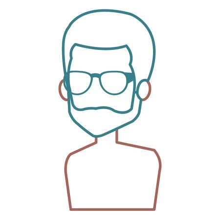 Man with eye glasses avatar. Stock Vector - 85025203