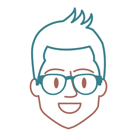 Man with eye glasses avatar. Stock Vector - 85025207