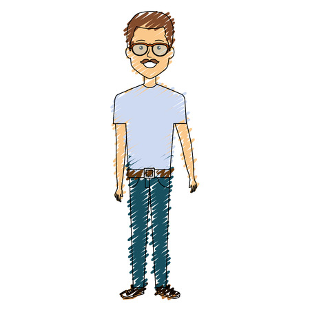 Man with eye glasses avatar.