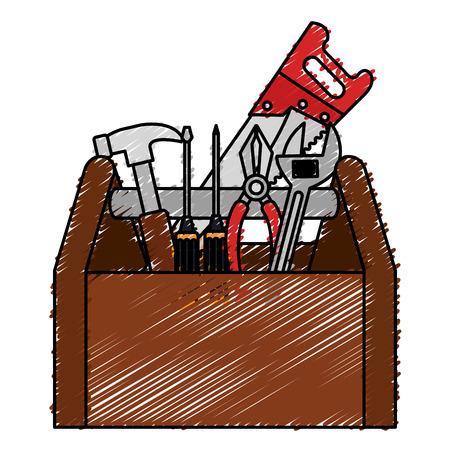 Toolbox icon illustration. Çizim