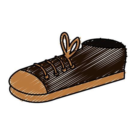 Elegant male shoe icon. Çizim