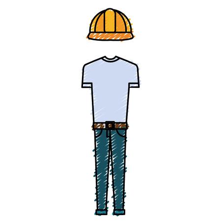 Construction uniform icon. Illustration