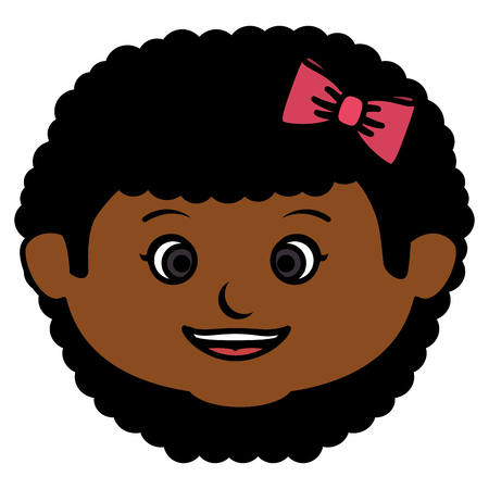 Little girl head icon.