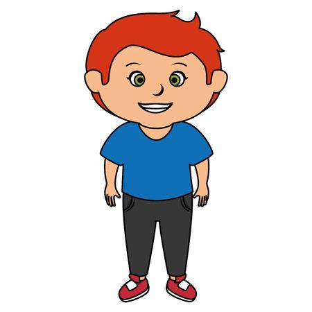 Illustrazione di icona ragazzo Archivio Fotografico - 85035619
