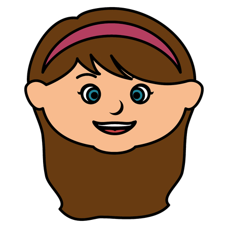 Little girl icon. Illusztráció