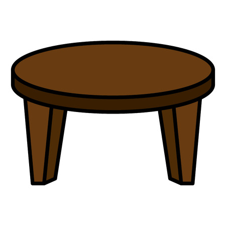 Ikonenvektor-Illustrationsdesign der runden kleinen Tabelle Vektorgrafik