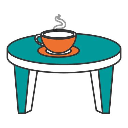 Petite table ronde avec café illustration vectorielle conception Banque d'images - 85021898