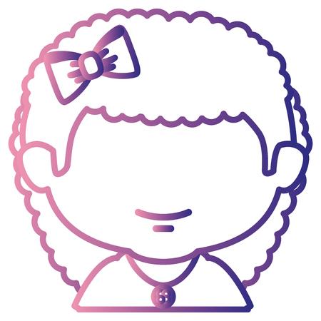 Carino bambina carattere illustrazione vettoriale illustrazione Archivio Fotografico - 85018271