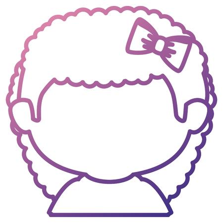 Progettazione senza cuciture dell'illustrazione di vettore del carattere senza camicia della bambina Archivio Fotografico - 85017770