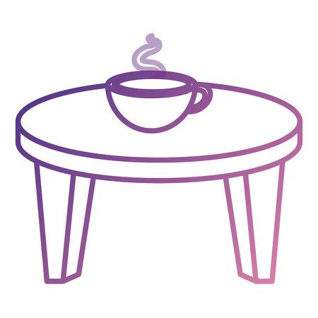 Petite table ronde avec café illustration vectorielle conception Banque d'images - 85018167