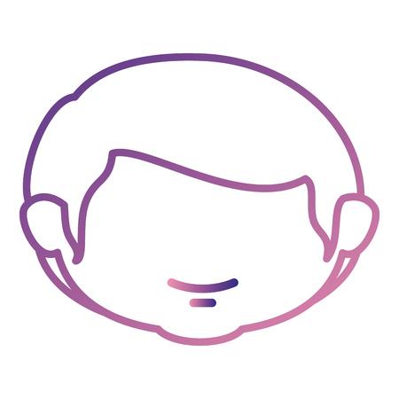 Progettazione sveglia dell'illustrazione di vettore del carattere della testa del ragazzino Archivio Fotografico - 85018242