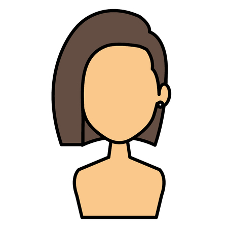 Beautiful woman shirtless avatar character vector illustration design 向量圖像