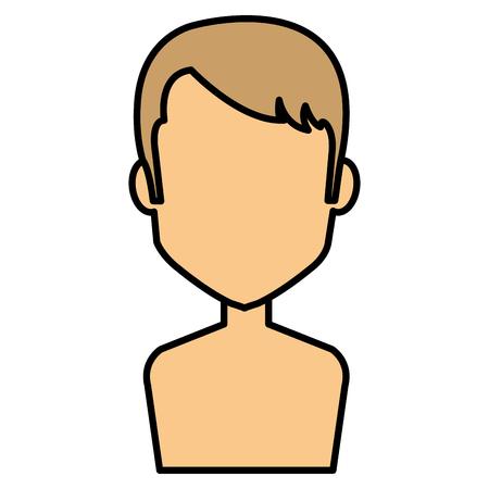 young man shirtless avatar character vector illustration design Stock Vector - 85042142