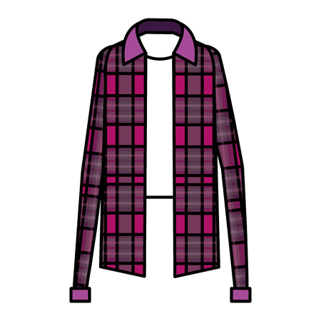 Plaid sweater classic icon vector illustration design