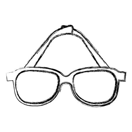 Oogbril geïsoleerd pictogram vector illustratie ontwerp