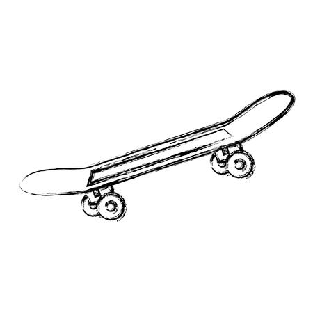 스케이트 보드 격리 된 아이콘 벡터 일러스트 디자인 스케이트 일러스트