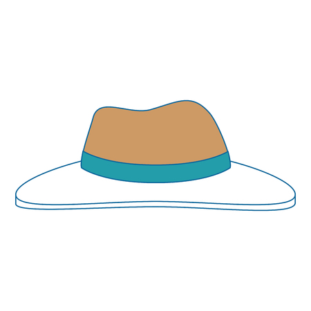 farmer hat isolated icon vector illustration design Illusztráció