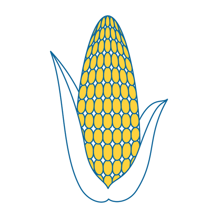Fresh corn cob icon vector illustration design Illusztráció