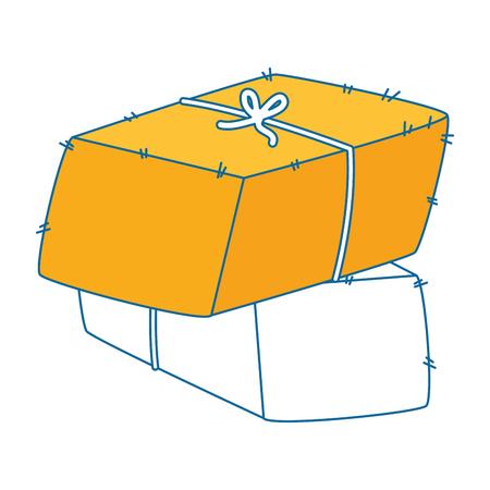 Balken van hooi pictogram vector illustratie ontwerp