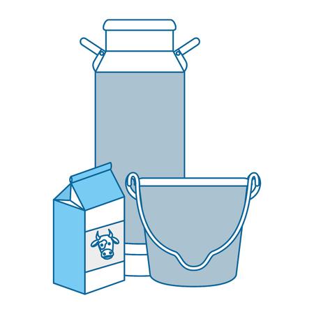 Embalaje de leche de vaca conjunto de diseño de ilustración vectorial Foto de archivo - 85025604