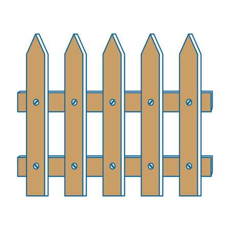 フェンス木製孤立アイコンベクトルイラストデザイン