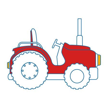 Diseño aislado del ejemplo del vector del icono del tractor de granja Foto de archivo - 85025496
