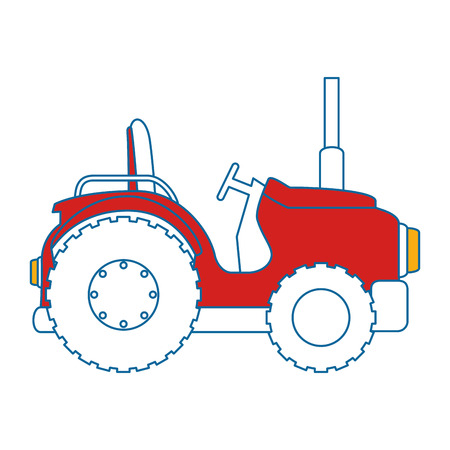 Farm tractor isolated icon vector illustration design Banco de Imagens - 85025496