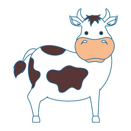 boerderij koe geïsoleerde pictogram vectorillustratieontwerp Stock Illustratie