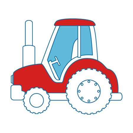 Diseño aislado del ejemplo del vector del icono del tractor de granja Foto de archivo - 85026730
