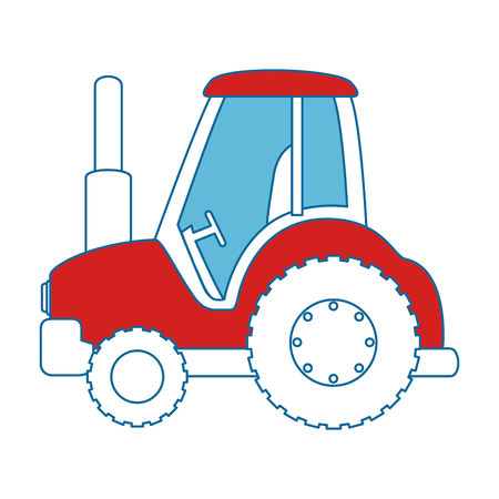 Farm tractor isolated icon vector illustration design